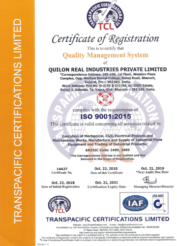 Quilon Real Certificates